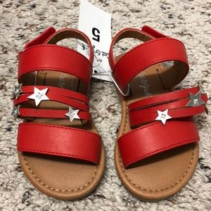 NWT baby toddler girl sandals shoes size 5